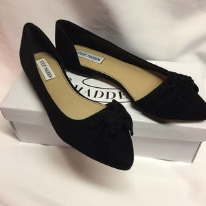Steve Madden Womens Size 8 Flats Black Suede